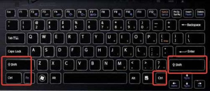 Клавиша «Ctrl» замедляет движение курсора, а «Shift» ускоряет