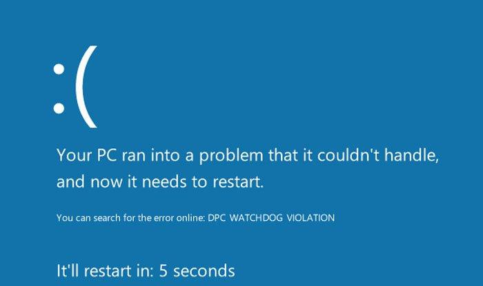 Код ошибки «Dpc watchdog violation» связан с некорректным завершением обновлений или неудавшимся восстановлением системы до Windows 10