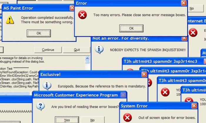 Код ошибки, возникающий на экране, может содержать информацию о причине, которая заставляет компьютер перезагружаться