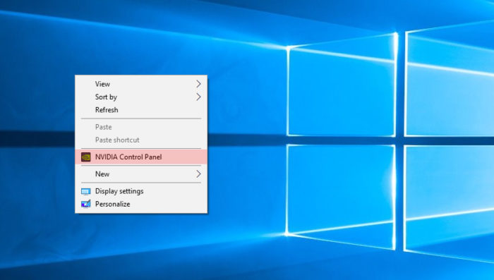 Левым кликом мышки нажимаем по строке «Панель управления NVIDIA»