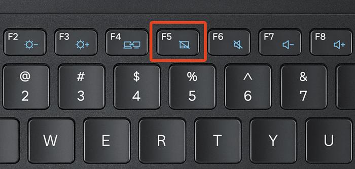 На клавише, отвечающей за включение и выключение тачпада, изображен соответствующий значок