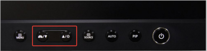 Находим кнопку регулирования яркости на мониторе компьютера