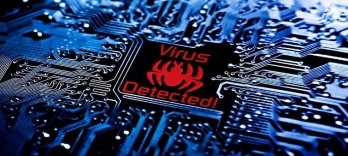 Наличие вируса в системе может влиять на то, что компьютер не может увидеть колонки