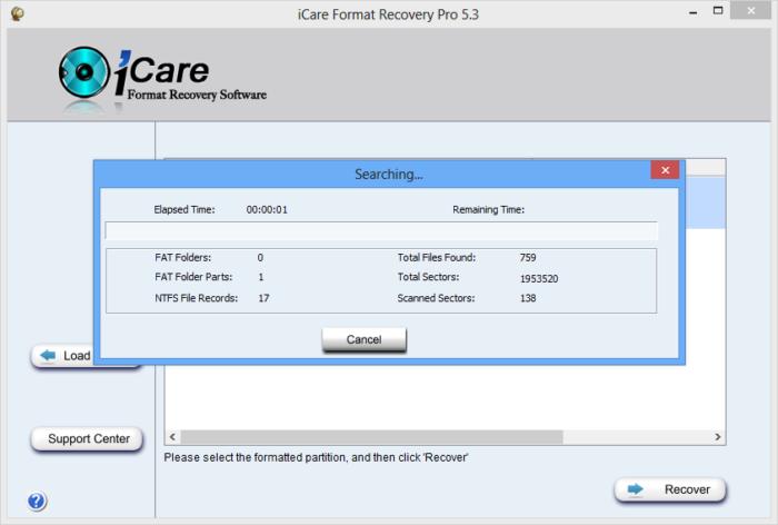 Ожидаем завершения процесса поиска и восстановления поврежденных файлов