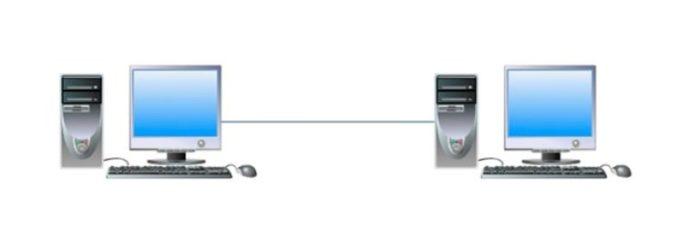 Соединение кабелем двух персональных компьютеров