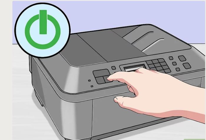 Включаем принтер, нажав на его кнопку питания