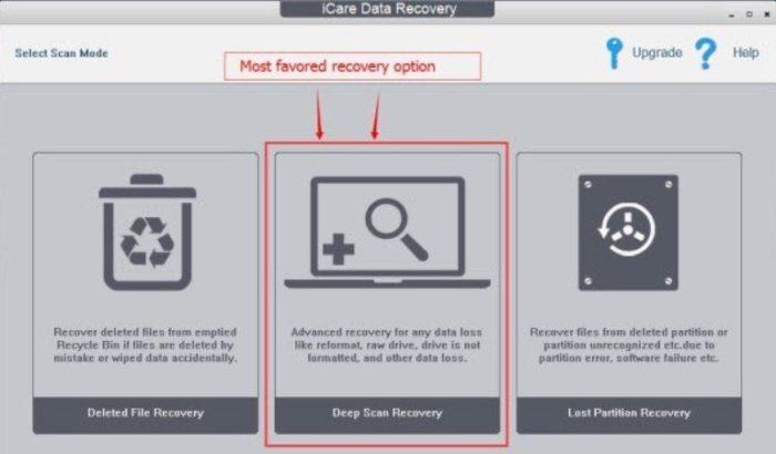 Выбираем кнопку глубокой проверки и восстановления «Deep Scan Recoverу»