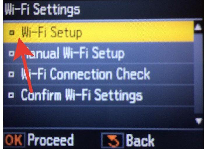 Заходим в меню «Wi-Fi Setup»