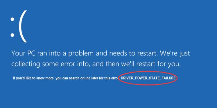 Driver Power State Failure Windows 10, как исправить