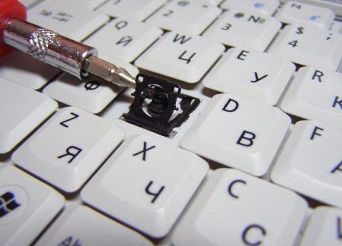 Как снять клавишу с ноутбука