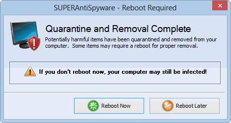 Нажимаем на «Reboot Now», чтобы перезагрузить систему