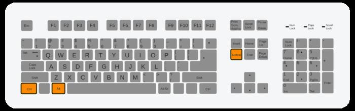 Нажимаем одновременно три клавиши «Ctrl+Alt+Del»