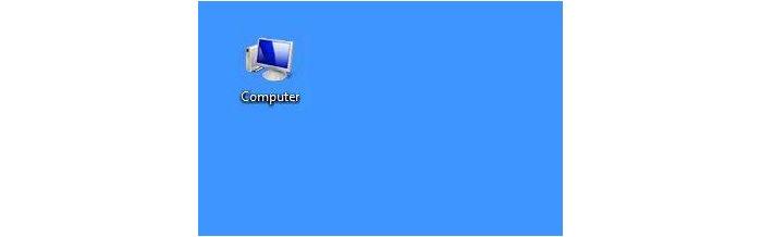 Открыть ярлык «Компьютер»