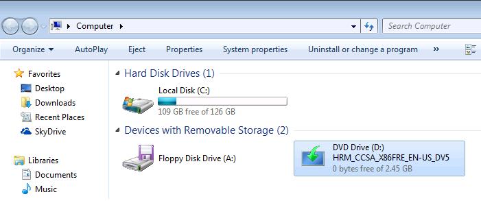 Открываем двойным щелчком привод CD–DVD