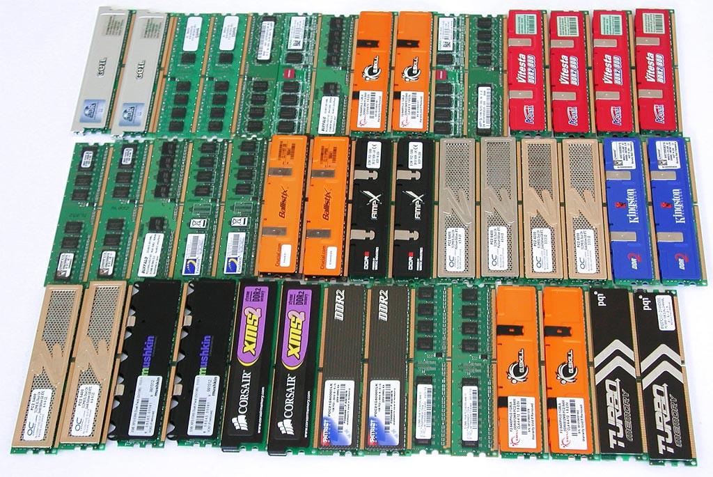 Различные планки оперативной памяти