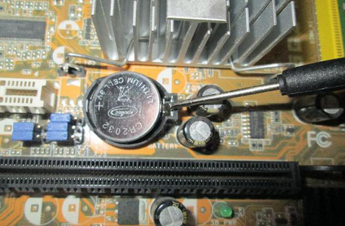 Сброс настроек BIOS без перемычки