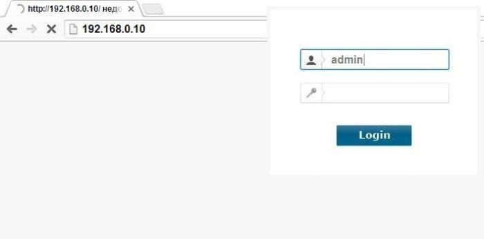 Вводим логин «admin», пароль не заполняем, нажимаем «Login» («Вход»)