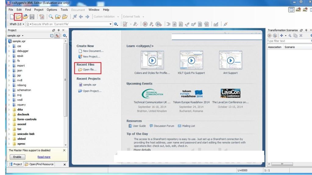 Выбираем нужный файл, нажав на иконку «File» в левом верхнем меню рабочей области
