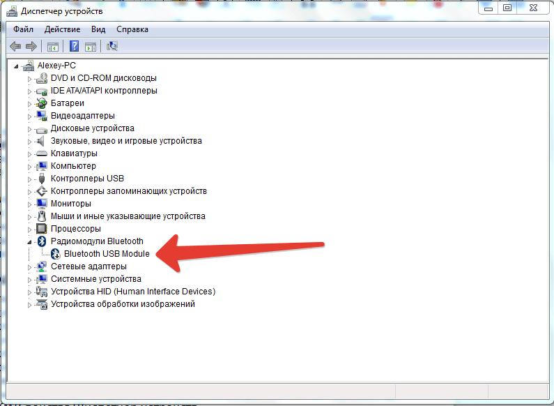 Выбираем пункт «Bluetooth USB Module»