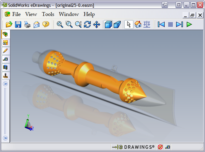 Интерфейс программы SolidWorks eDrawing Viewer