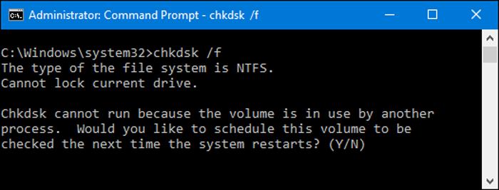 Команда Chkdsk с дополнительным ключом /f автоматически исправляет найденные ошибки