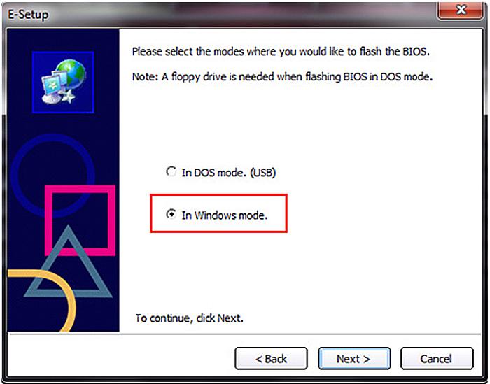 Оставляем режим «In Windows...» и нажимаем «Next»