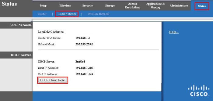 Открываем раздел «Status», далее подраздел «Local Network» , затем подпункт «DHCP Clients Table», изучаем список подключенных устройств