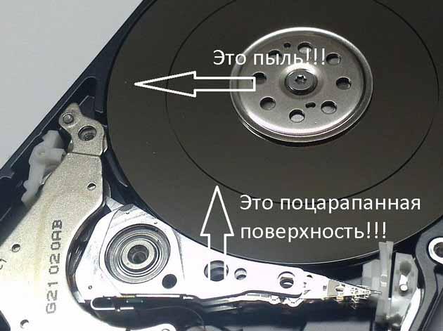 Поверхность диска