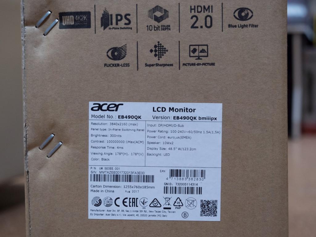 Смотрим на коробке производителя талон с характеристиками