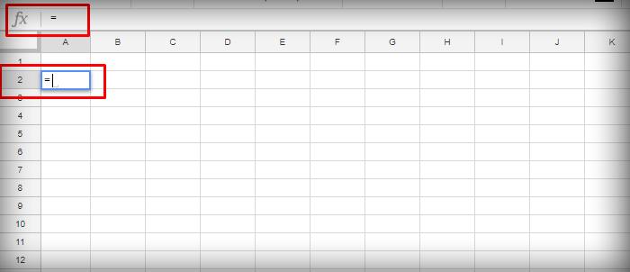 Ставим знак «=» в ячейке или в строке для формул «fx»