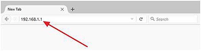 Вводим IP-адрес роутера в адресной строке, нажимаем «Enter»