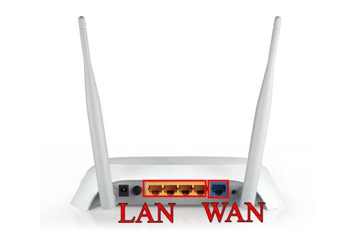 WAN-порт предназначен для подключения к интернету, а LAN – для локальной сети