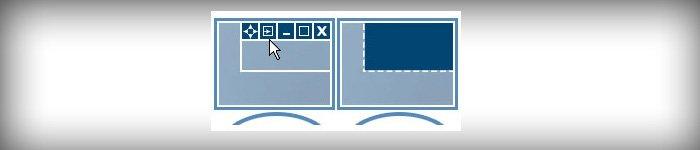 Функция размещения кнопок в заголовках окон для удобного управления ими