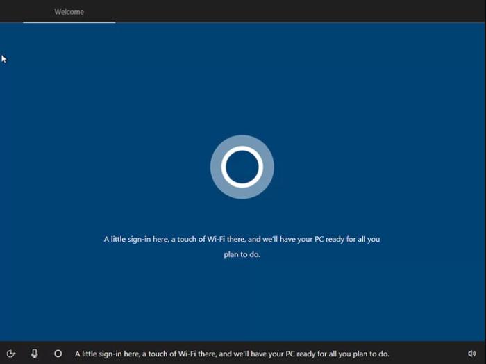 После сообщения помощника Windows «Кортана» производим настройки