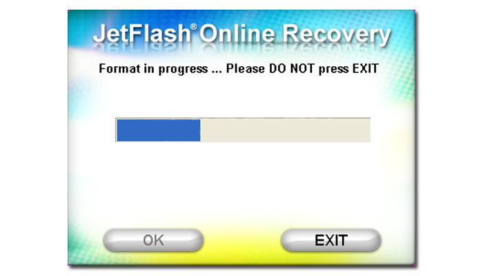 Процесс автоматического восстановления флешки