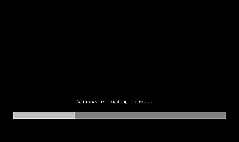 Процесс загрузки информации с установочного диска