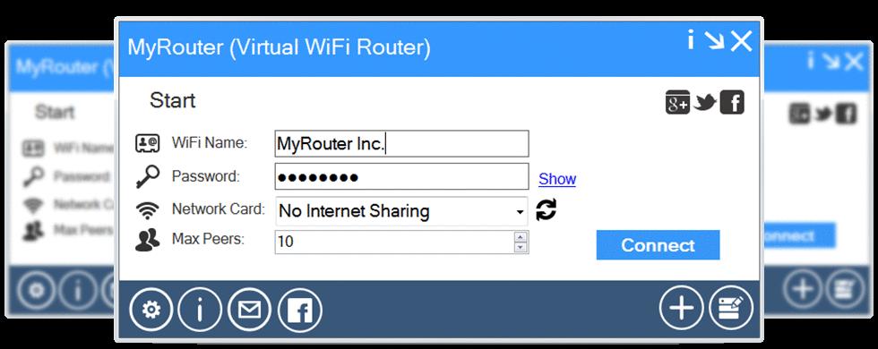 Программа WiFi Virtual Router