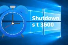 Shutdown s t 3600