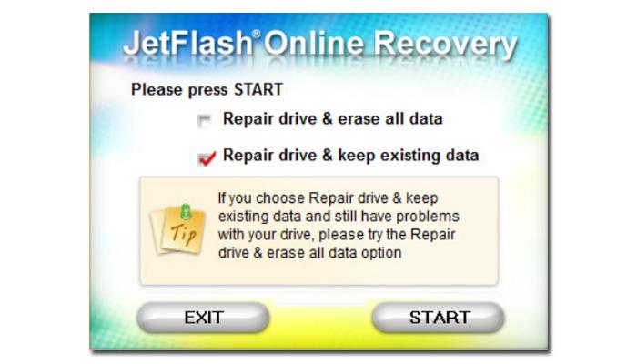 Ставим галочку на пункте «Repair drive & erase all data»