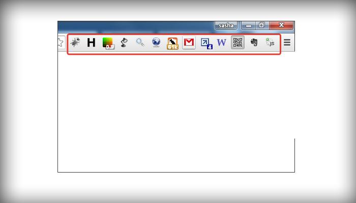 Выбираем расширения, находящиеся на панели инструментов браузера, для удаления