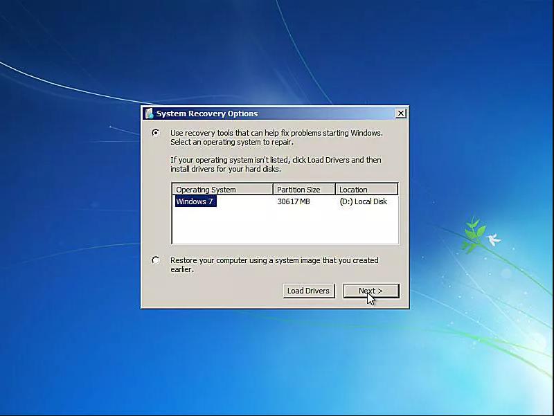 Выбираем установку Windows и нажимаем «Next»