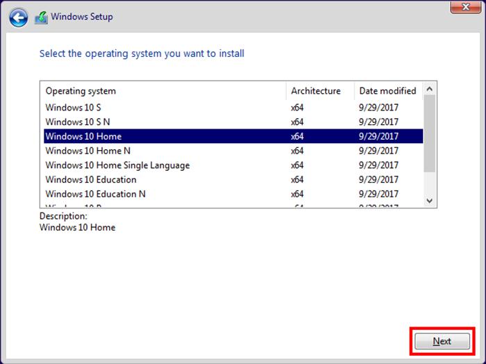 Выбираем версию Windows и нажимаем «Next»