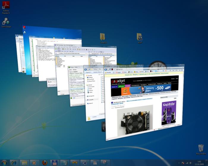 Интерфейс Windows Aero