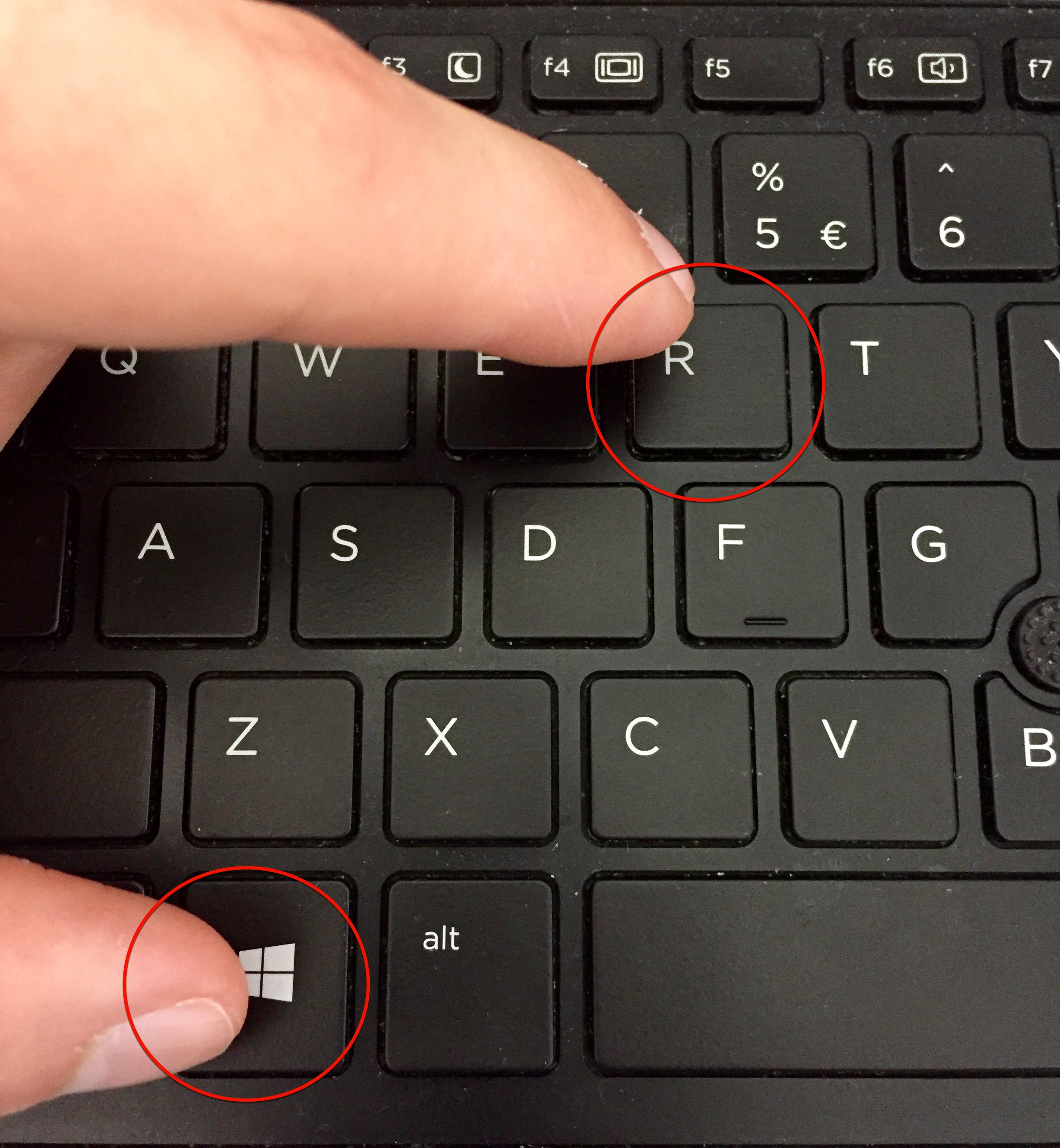 Нажимаем одновременно две клавиши «Win+R»