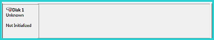 Не инициализированный диск не отображает дисковое пространство
