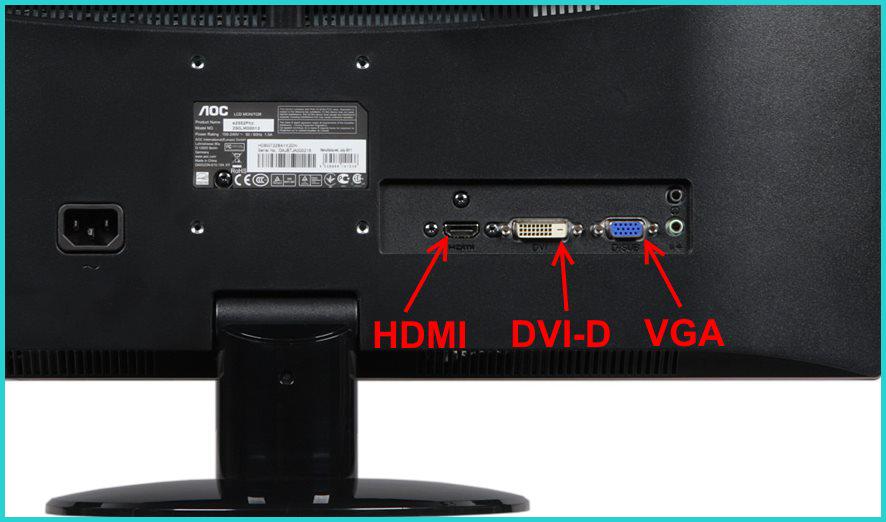 Определяем вид видео разъёма на мониторе
