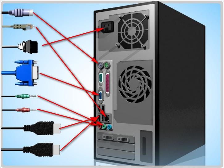 Отключаем от ПК разъемы всех устройств
