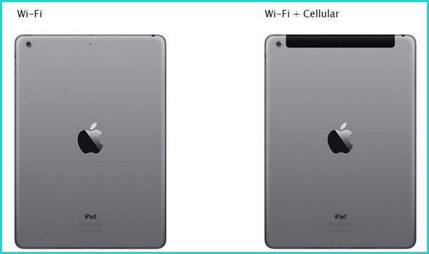 Отличие планшета Cellular от обычного наличие черной пластиковой крышки на задней панели в верхней части
