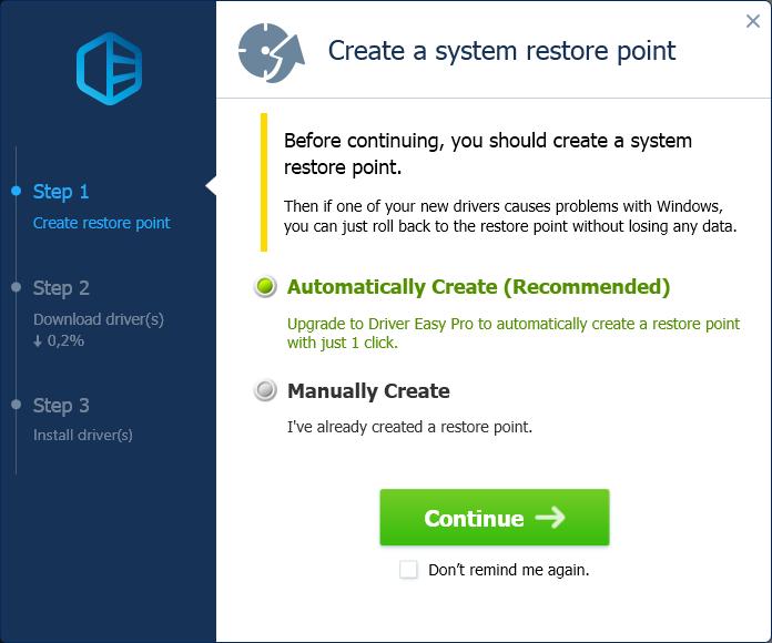 Отмечаем вариант «Automatically Create (Recommended)», нажимаем «Continue»