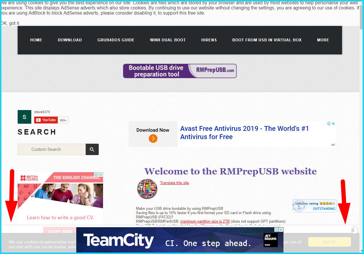 Переходим на официальный сайт RMPrepUSB